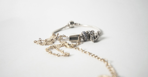 photo of bracelet and necklace