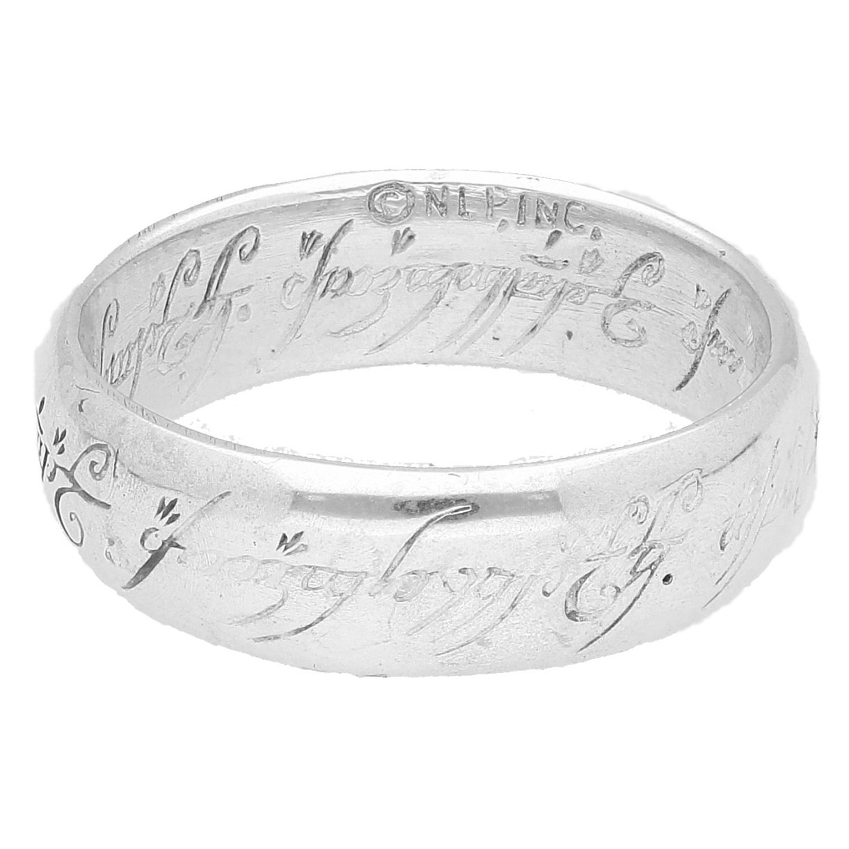 Lord Of The Rings Wedding Band.Sterling Silver Lord Of The Rings Wedding Band Size V 1 2 7mm