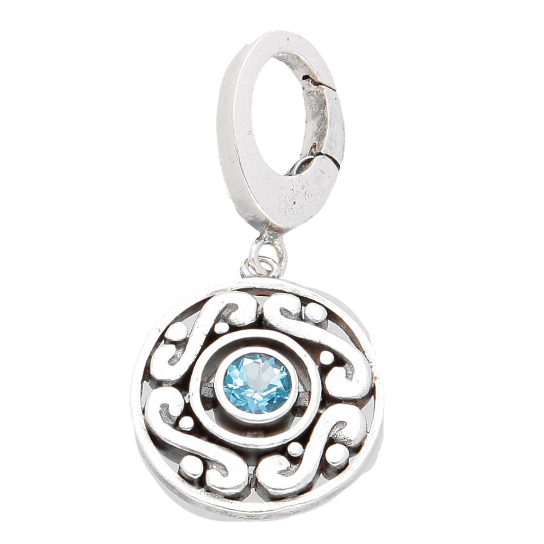 Sterling Silver Fancy Charm Pendant