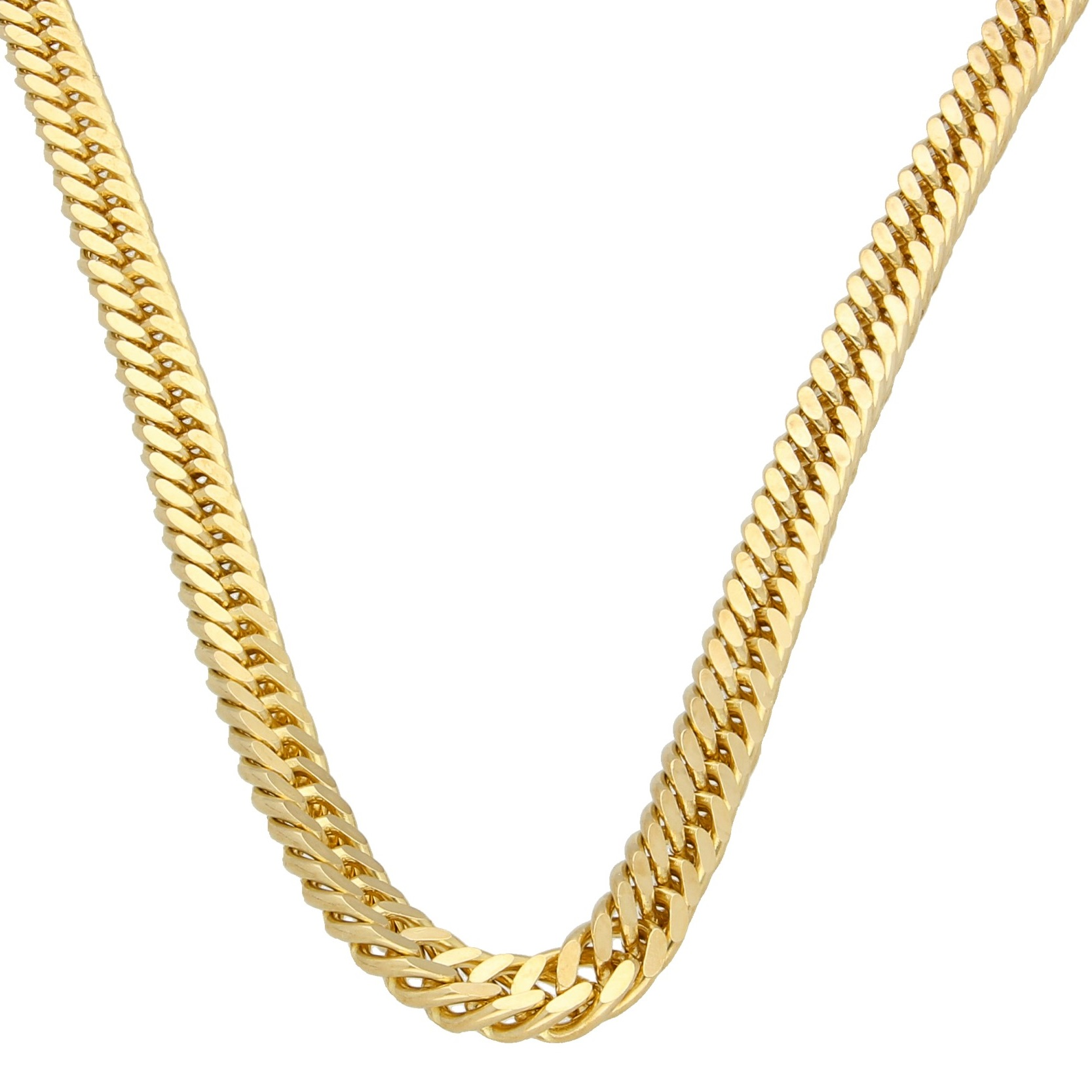 9 ct yellow  gold chain new  curb extra strong  18 inch