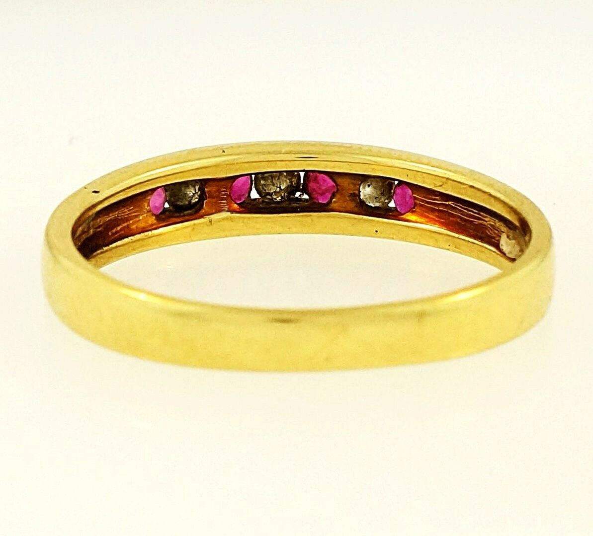 18carat Yellow Gold Ruby Amp Diamond Channel Set Eternity