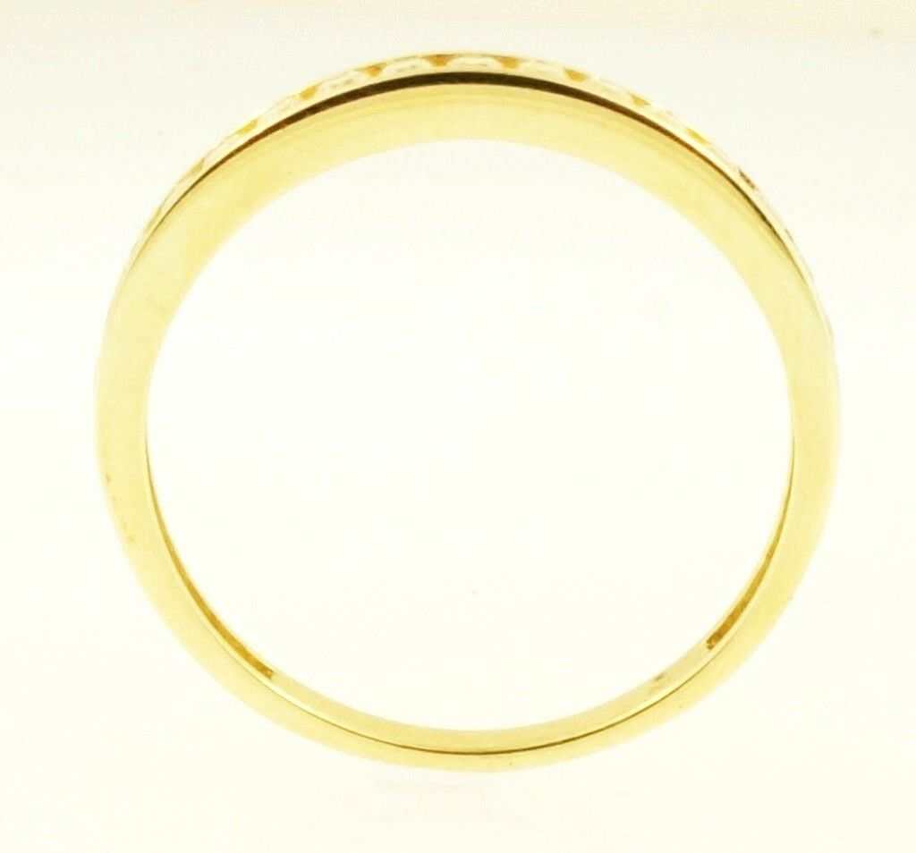 9carat yellow gold simulated diamond eternity ring size q. Black Bedroom Furniture Sets. Home Design Ideas