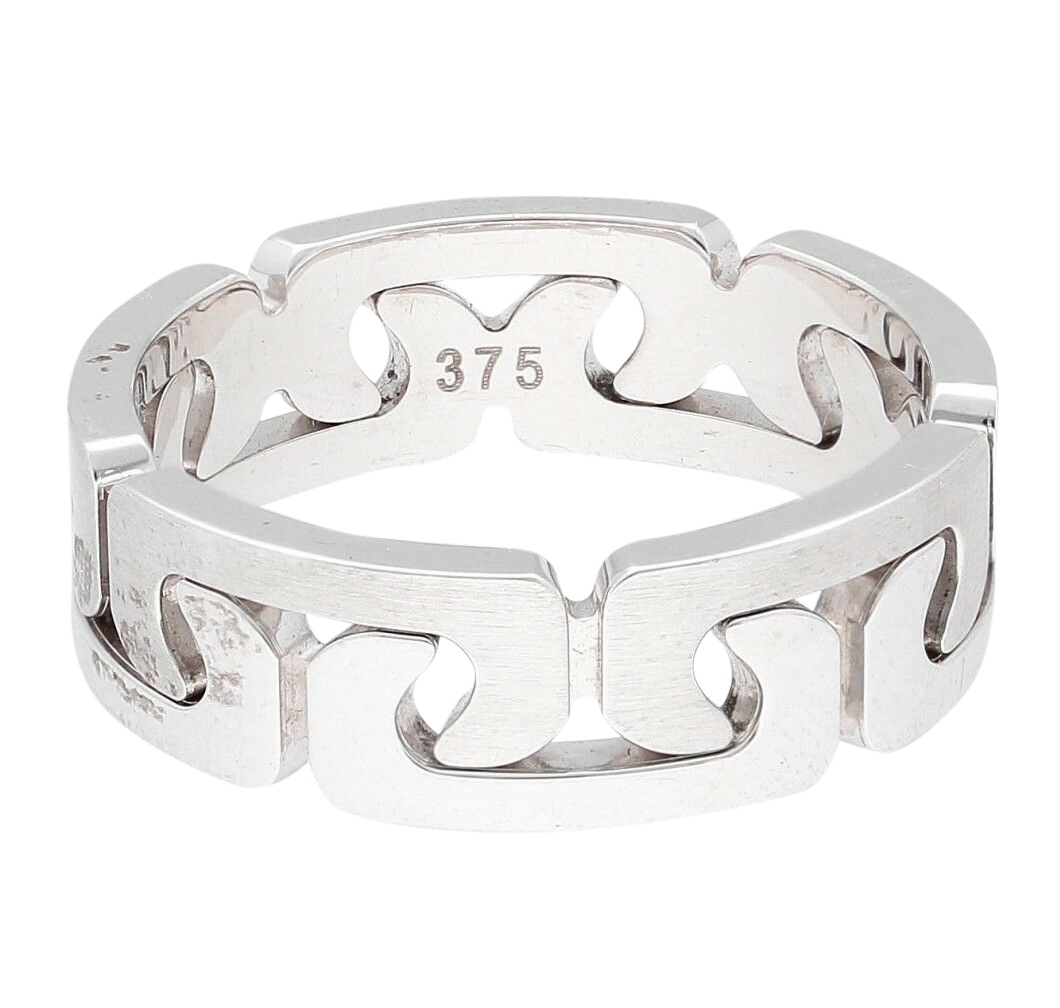 9carat White Gold Two Piece Puzzle Wedding Ring Band