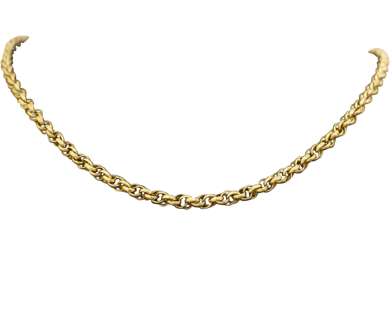 9ct Yellow Gold 24 Quot Prince Of Wales Chain Necklace 4mm