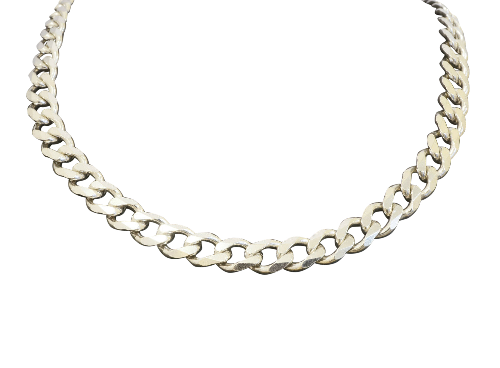 Sterling Silver 18 Quot Curb Link Chain Necklace 7mm Width