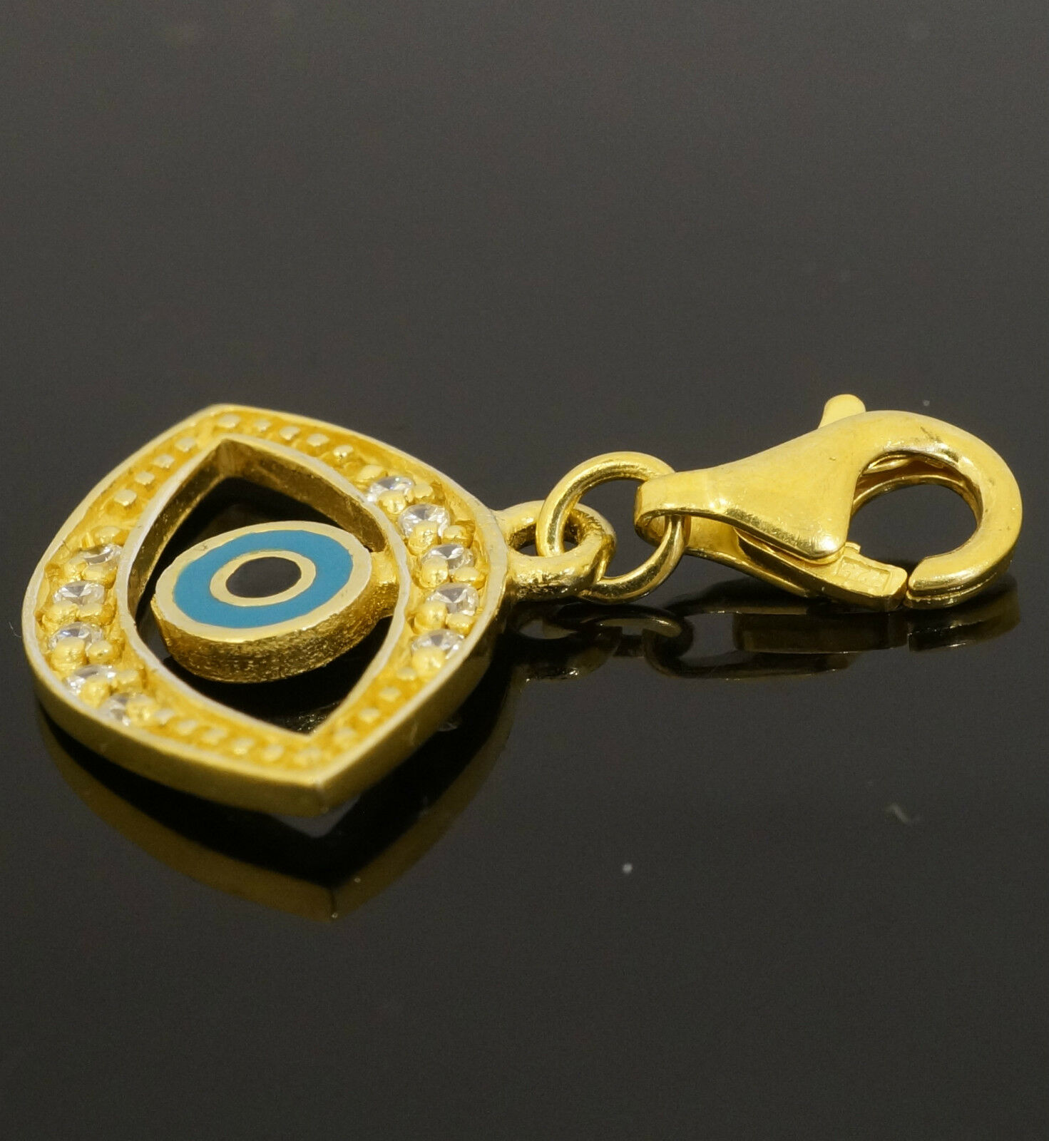 Gold plate on sterling silver stone set all seeing eye pendant gold plate on sterling silver stone set all mozeypictures Gallery