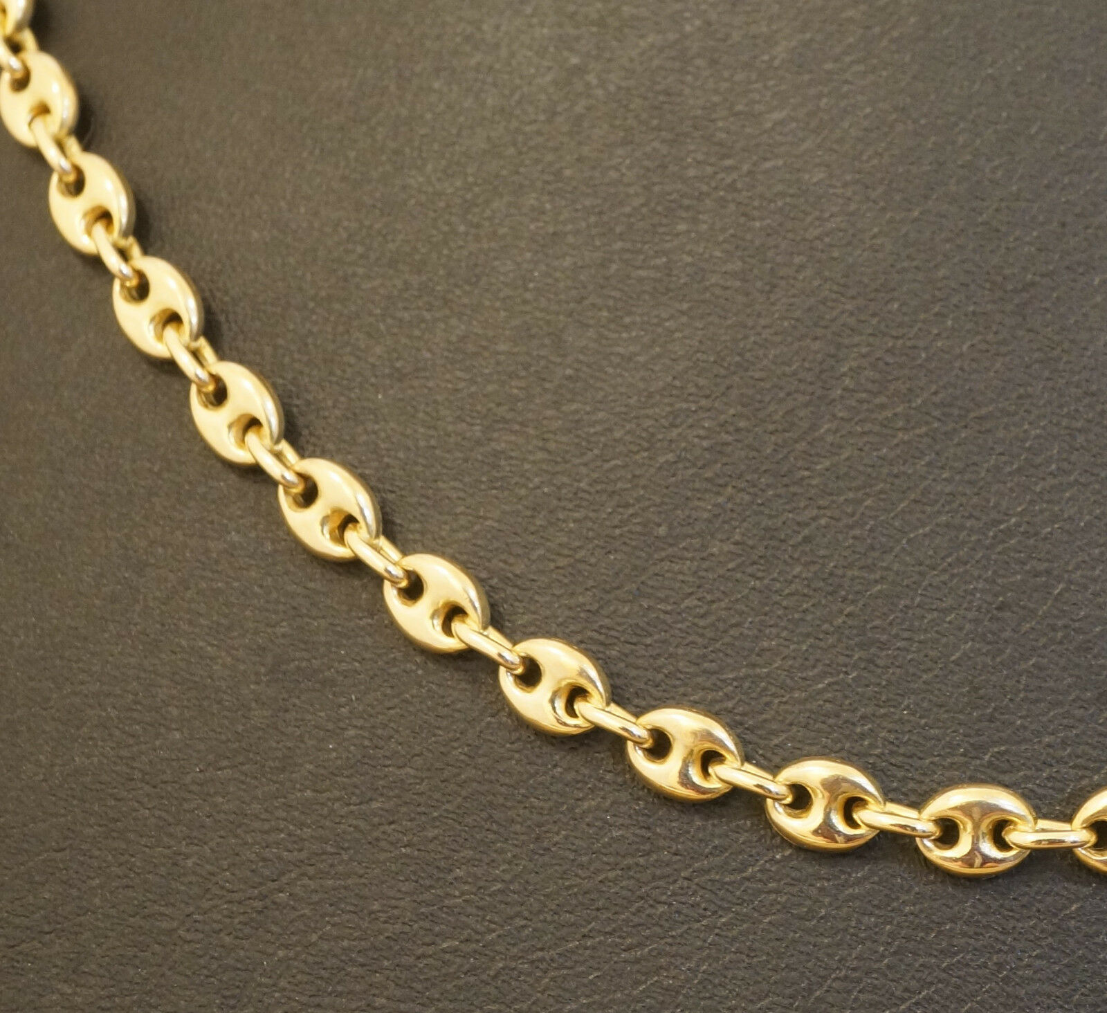 9ct Yellow Gold 20 5 Quot Fancy Anchor Amp Belcher Link Chain