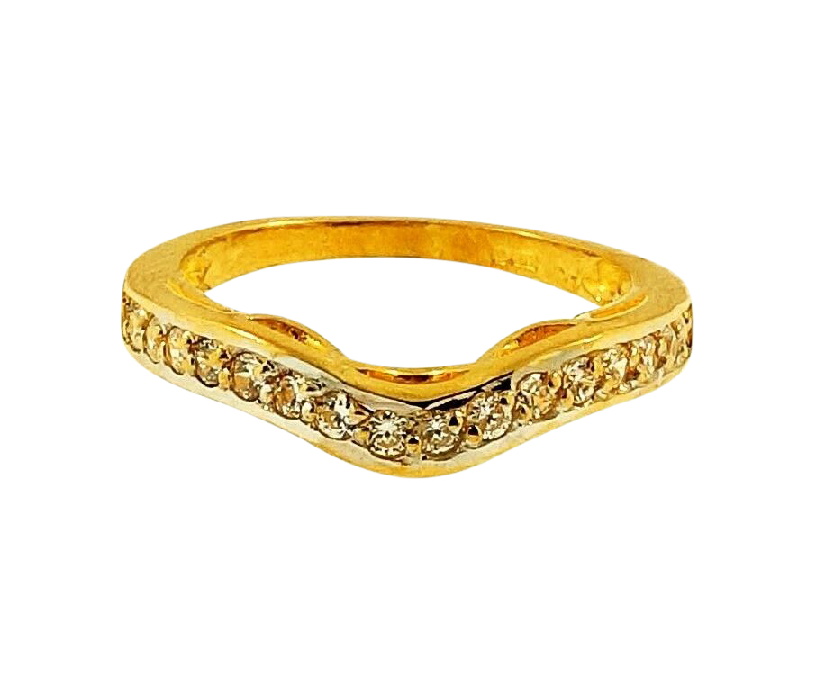 Wishbone Eternity Ring Yellow Gold