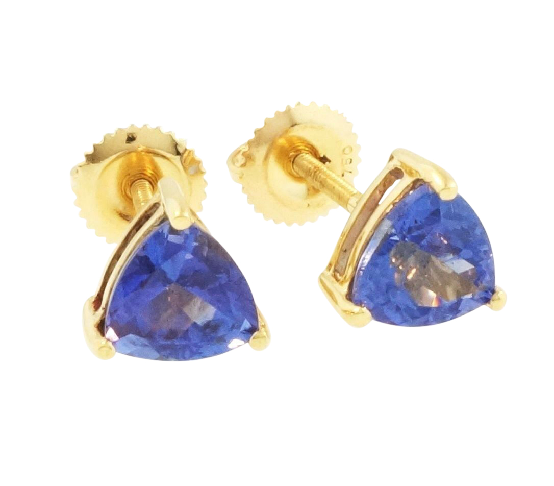 earrings trillion tanzanite g designs shop stud tamara