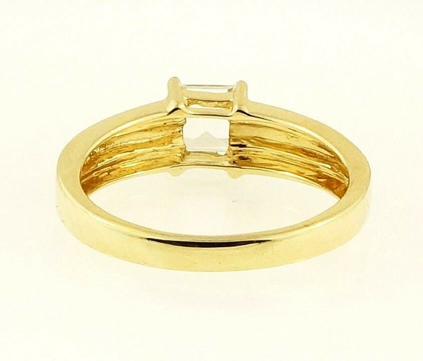 9carat Yellow Gold Princess Cut 5mm Simulated Diamond