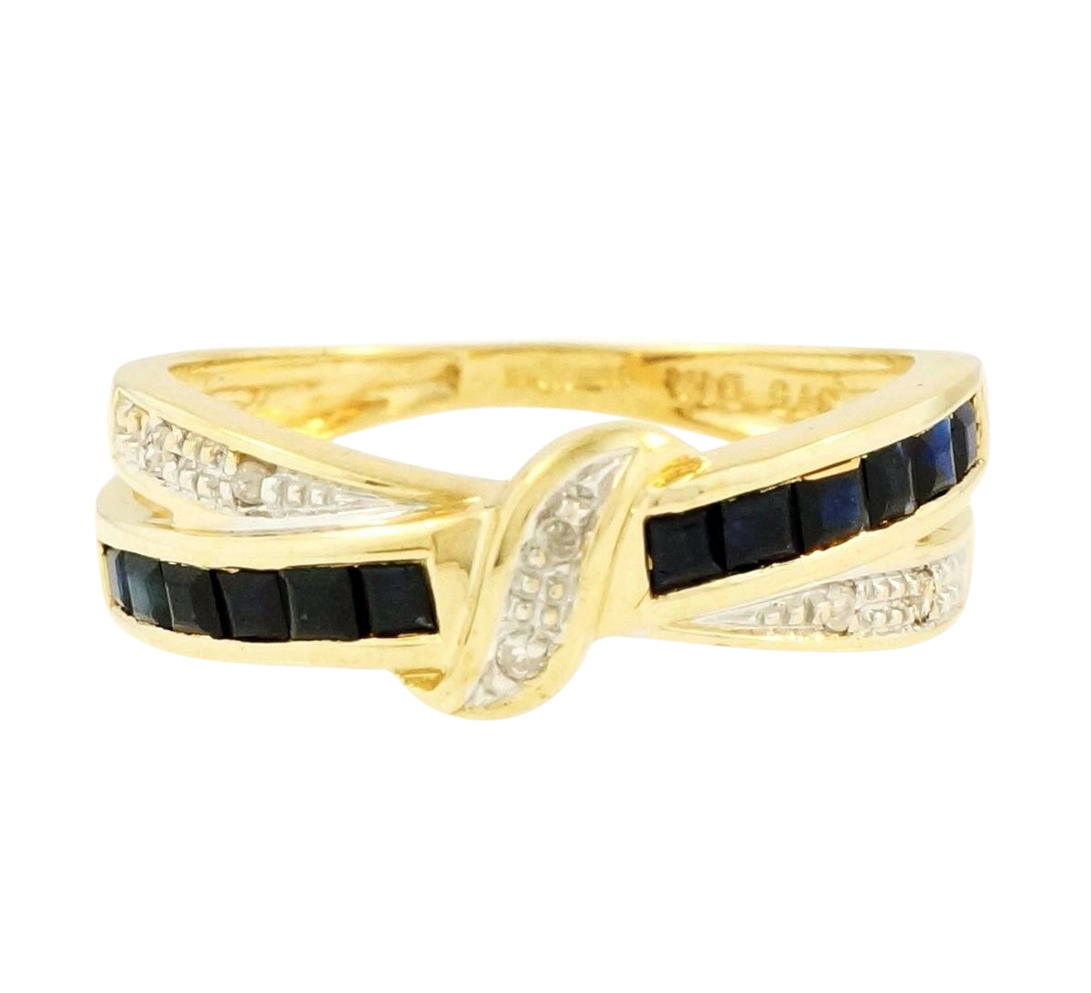 Ct Gold Crossover Eternity Ring