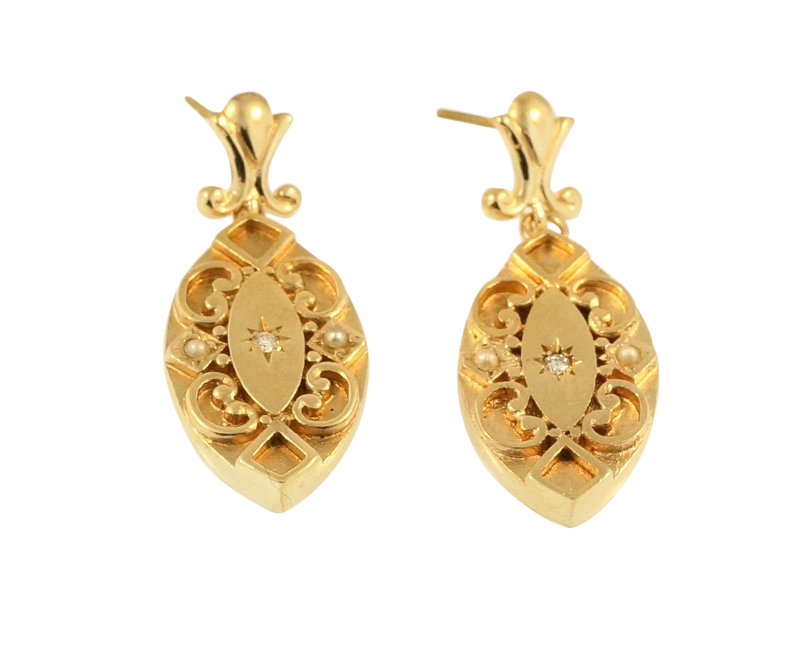 enchanted white drop gold lotus stud category jewellery beers earrings de diamond
