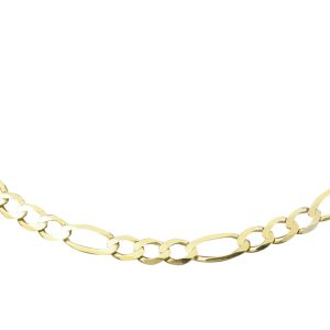 9Carat-Yellow-Gold-18-Figaro-Link-Necklace-5mm-Wide-Link-272299352447