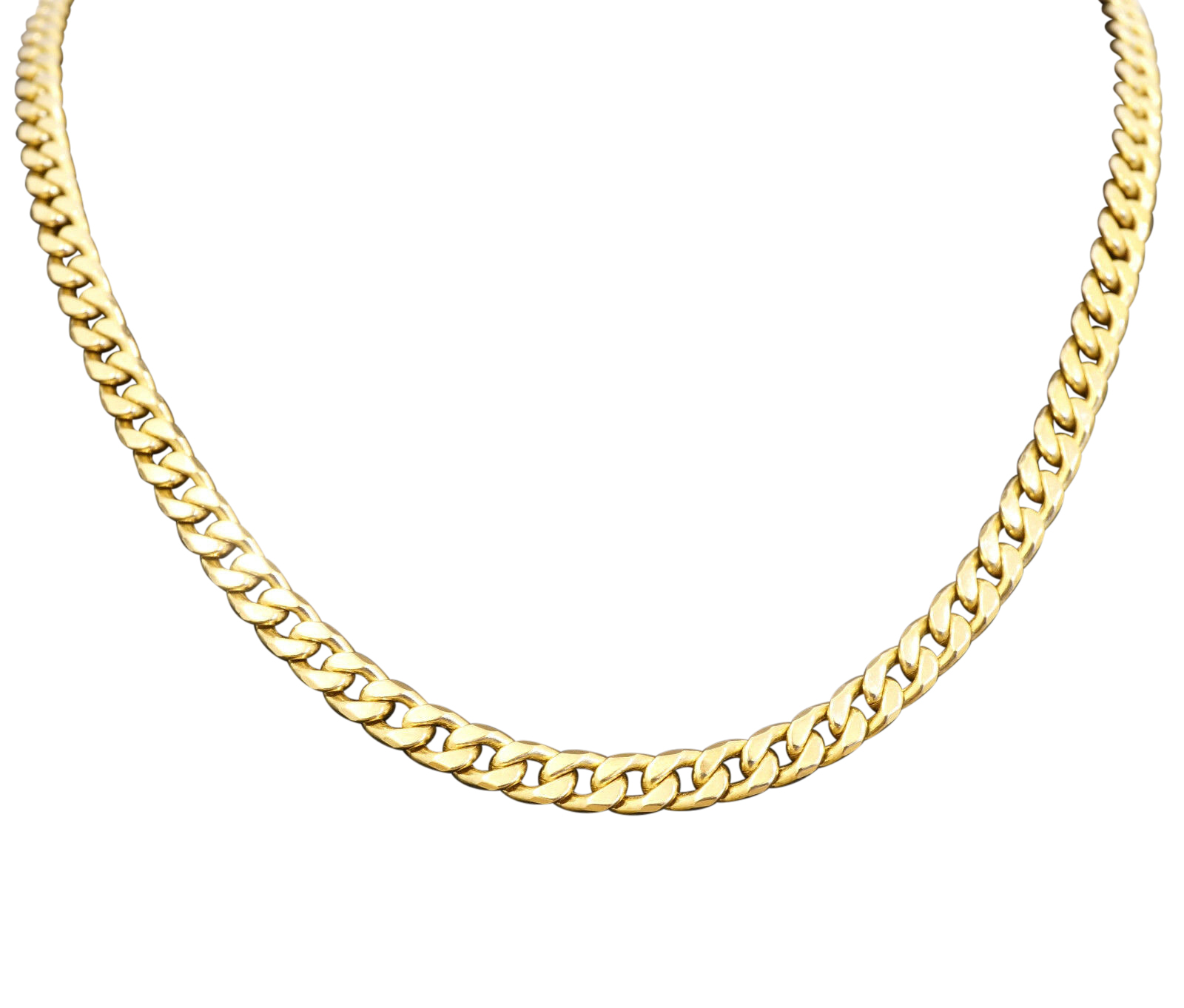 9carat yellow gold tight curb 20 quot necklace chain 5mm wide