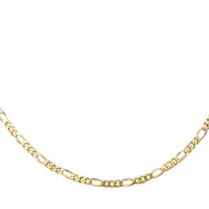 18Carat-Yellow-Rose-and-White-Gold-17-Figaro-Chain-3mm-Wide-Link-272739566368