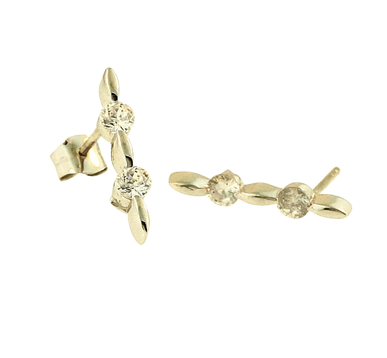 with earrings in classic drop of tw carat diamonds gold stud white diamond